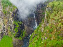 Voringsfossen waterfall, Mabodalen canyon Norway stock photography
