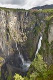 Voringsfossen waterfall in Norway. Norwegian outdoor highlight a Stock Photos