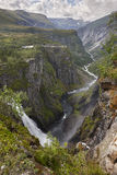 Voringsfossen waterfall in Norway. Norwegian outdoor highlight a Royalty Free Stock Image