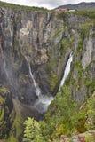 Voringsfossen waterfall in Norway. Norwegian outdoor highlight a Stock Photo