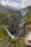 Voringsfossen waterfall in Norway. Norwegian outdoor highlight a Royalty Free Stock Photos