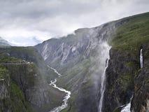 Voringsfossen Waterfalls. Spectacular view of the Voringsfossen Waterfalls, located in Norway Stock Photo