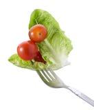 Vork met groente stock afbeelding
