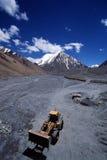 Vorkheftruck in gletsjer Stock Afbeelding