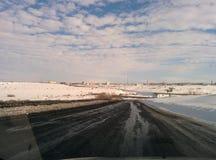 Vorkuta en hiver Photographie stock libre de droits