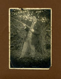 Vorlage 1930 antiker Fotojäger Lizenzfreies Stockbild