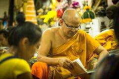 Vorlagen-Yantra-Tätowierungen bei Wat Bang Phra Buddhist Temple Stockbild