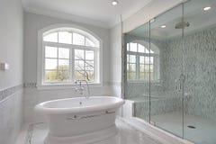 Vorlagenbad mit großer Dusche Lizenzfreies Stockbild