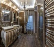 Vorlagenbadezimmer stockbild