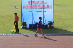 VORLAGENleichtathletik INDONESIEN Stockfoto