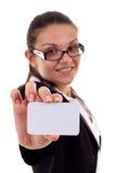 Vorlegen einer Visitenkarte Lizenzfreies Stockfoto