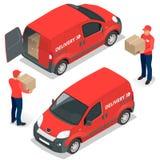 Vorleistung, schnelle Lieferung, Hauslieferung, kostenloser Versand, 24 Stundenlieferung, Lieferungs-Konzept, Kurierdienst Lizenzfreies Stockbild