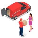 Vorleistung, schnelle Lieferung, Hauslieferung, kostenloser Versand, 24 Stundenlieferung, Lieferungs-Konzept, Kurierdienst Lizenzfreie Stockfotografie