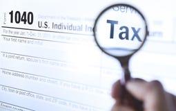 Vorm 1040 van de belasting Stock Foto's