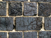 Vorm baksteenachtergrond slakken Stock Fotografie