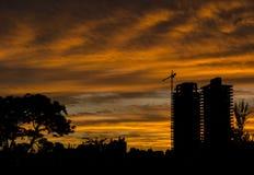 Vorm en zonsondergang royalty-vrije stock afbeelding