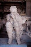 Vorm van burger van Pompei dat in de as opgesloten werd Stock Afbeelding