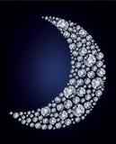 Vorm van de maan maakte omhoog heel wat diamant royalty-vrije illustratie