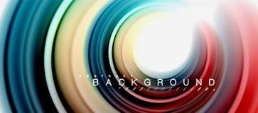 Vorm van de regenboog ontwerpt de vloeibare abstracte werveling, verdraaide vloeibare kleuren, kleurrijke marmeren of plastic gol vector illustratie
