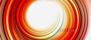 Vorm van de regenboog ontwerpt de vloeibare abstracte werveling, verdraaide vloeibare kleuren, kleurrijke marmeren of plastic gol stock illustratie