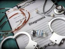 Vorm van diagnose en resolutie van euthanasie Royalty-vrije Stock Afbeelding