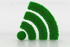 Vorm van een Wifi-Teken met groen Gras stock foto
