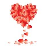Vorm van hart die van bladeren wordt gemaakt Stock Foto