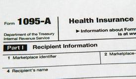 Vorm 1095 voor het Betaalbare Gezondheidszorgakte Stock Foto's