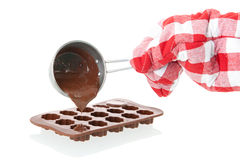 Vorm voor het maken van Chocolade stock foto's