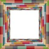 Vormden de digitaal geproduceerde weerspiegelende kleurrijke cilindrische gevormde, uitgedreven bars die tot vierkant leiden, mod Royalty-vrije Stock Afbeelding