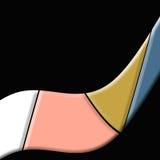 Vormen op zwarte vector illustratie