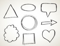 Vormen - schets uit de vrije hand Stock Afbeelding