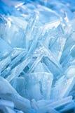 Vormen van overzees ijs dichtbij de kust royalty-vrije stock foto
