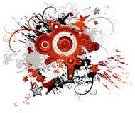 vormen, vlek, vectorillustra Stock Foto