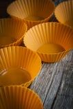 Vormen voor cupcakes Stock Foto's