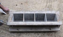 Vormijzer voor uw concrete kubussen Stock Afbeeldingen