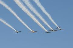 Vorming van vliegtuigen Stock Fotografie
