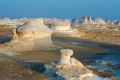 Vormingen in de witte woestijn Royalty-vrije Stock Afbeeldingen