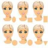 Vormtypes van het vrouwengezicht royalty-vrije illustratie