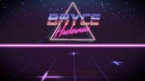 Vorname Bryce in synthwave Art vektor abbildung