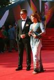 Vorobiev and Sotnikova at Moscow Film Festival Royalty Free Stock Photo