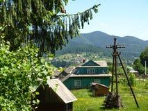 Vorohta, Carpathian mountains, Ukraine stock images