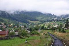 Vorokhta village in Carpathian mountains Royalty Free Stock Photo