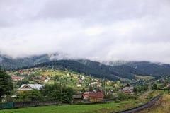 Vorokhta village in Carpathian mountains, Ukraine Stock Photo