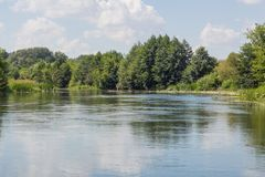 Vorona river Royalty Free Stock Photo