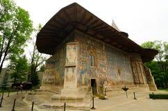 VoroneÈ› kloster av St George, Rumänien Arkivbilder
