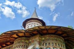 Voronet kloster Arkivbild