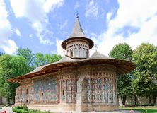 Voronet Monastery. In Romania. Built in 1488 in only 4 and a half months, which was a record for that time. Now it is a UNESCO World Heritage Royalty Free Stock Image