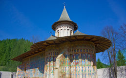 Voronet monastery. The Voronet monastery in summer from Romania Royalty Free Stock Photo