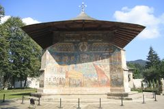 Voronet Monastery. The Voronet Monastery in Bukovina Royalty Free Stock Photo